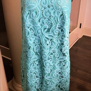 Lily Pulitzer Turquoise Lace Dress